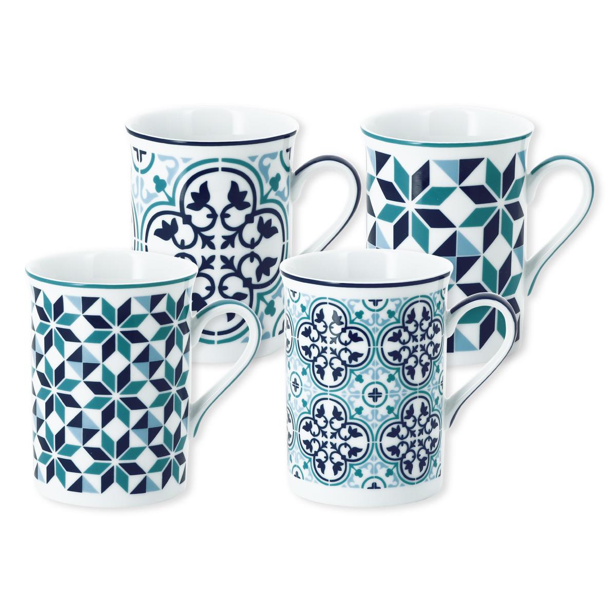 mug en porcelaine 25cl coffret de 4 bruno evrard. Black Bedroom Furniture Sets. Home Design Ideas
