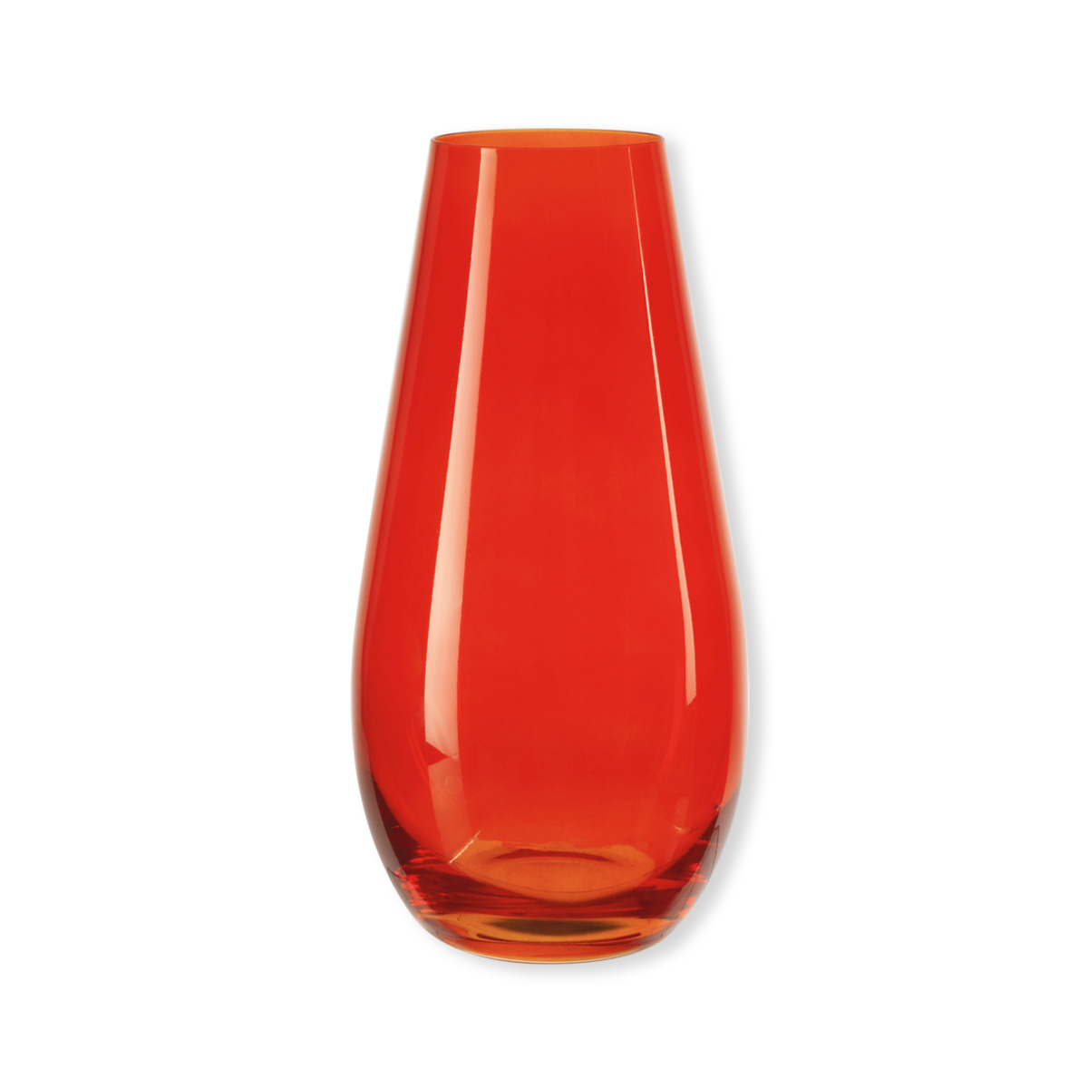 vase orange en verre 30cm bruno evrard. Black Bedroom Furniture Sets. Home Design Ideas