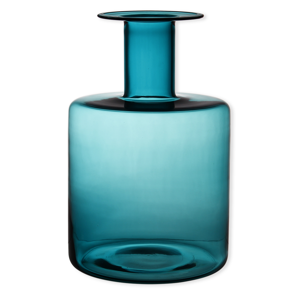 vase bleu turquoise en verre souffl bouche 40cm bruno. Black Bedroom Furniture Sets. Home Design Ideas