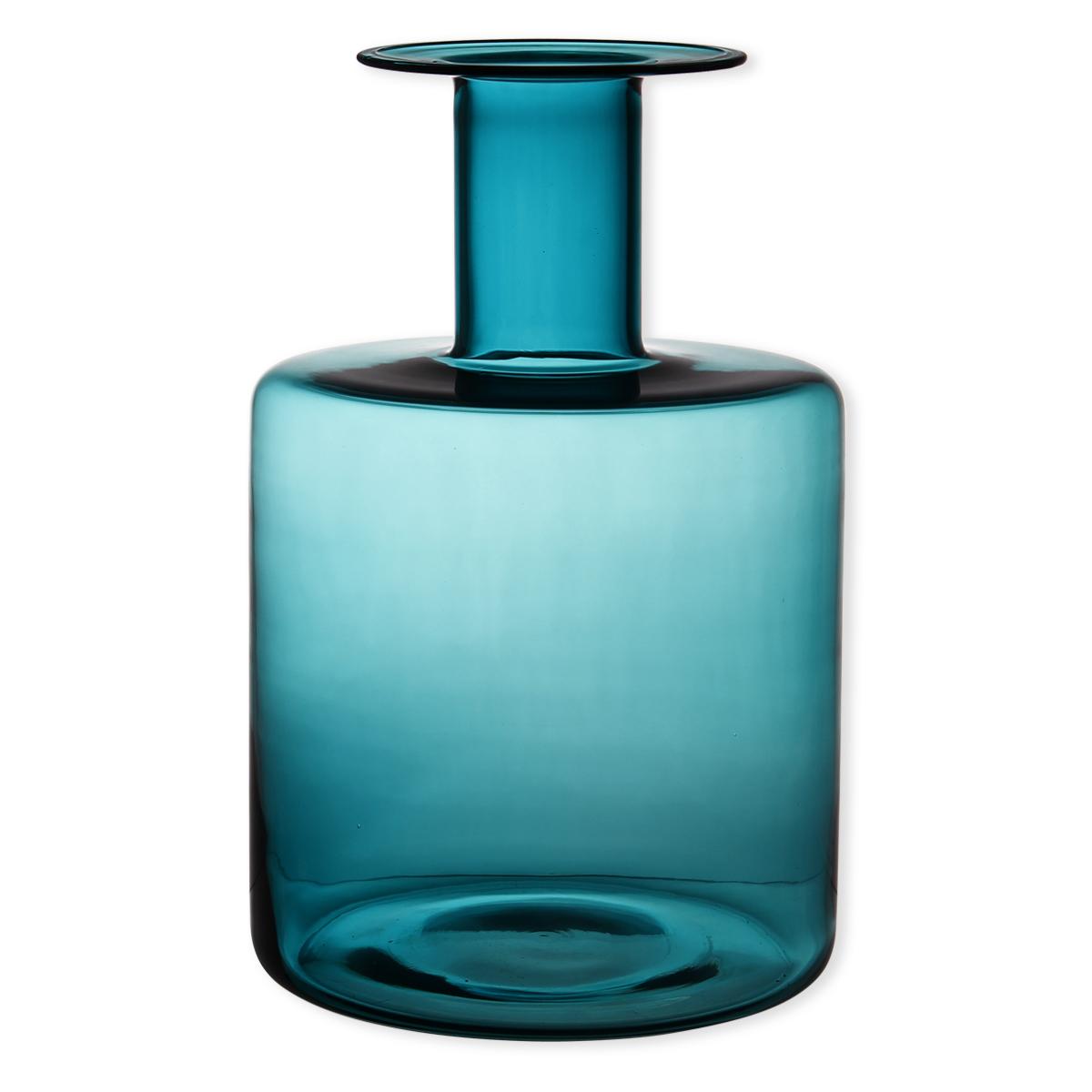 vase bleu turquoise en verre souffl bouche 40cm bruno evrard. Black Bedroom Furniture Sets. Home Design Ideas