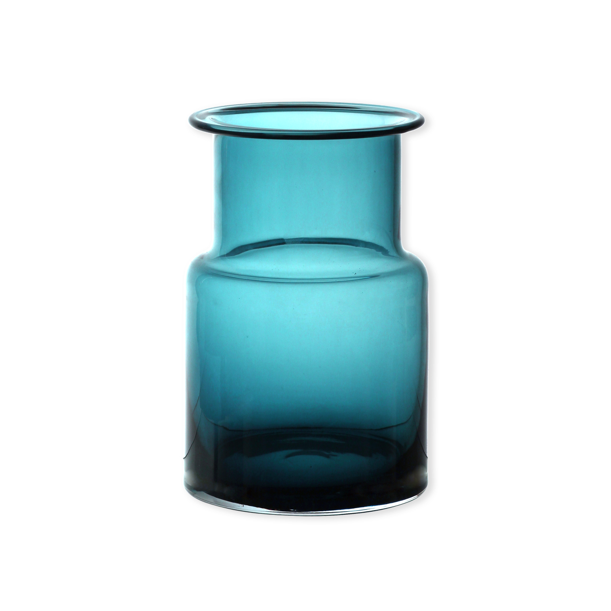 vase bleu turquoise en verre souffl bouche 20cm bruno. Black Bedroom Furniture Sets. Home Design Ideas