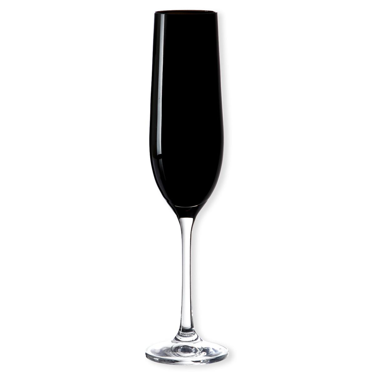fl te champagne en verre noir 19cl bruno evrard. Black Bedroom Furniture Sets. Home Design Ideas