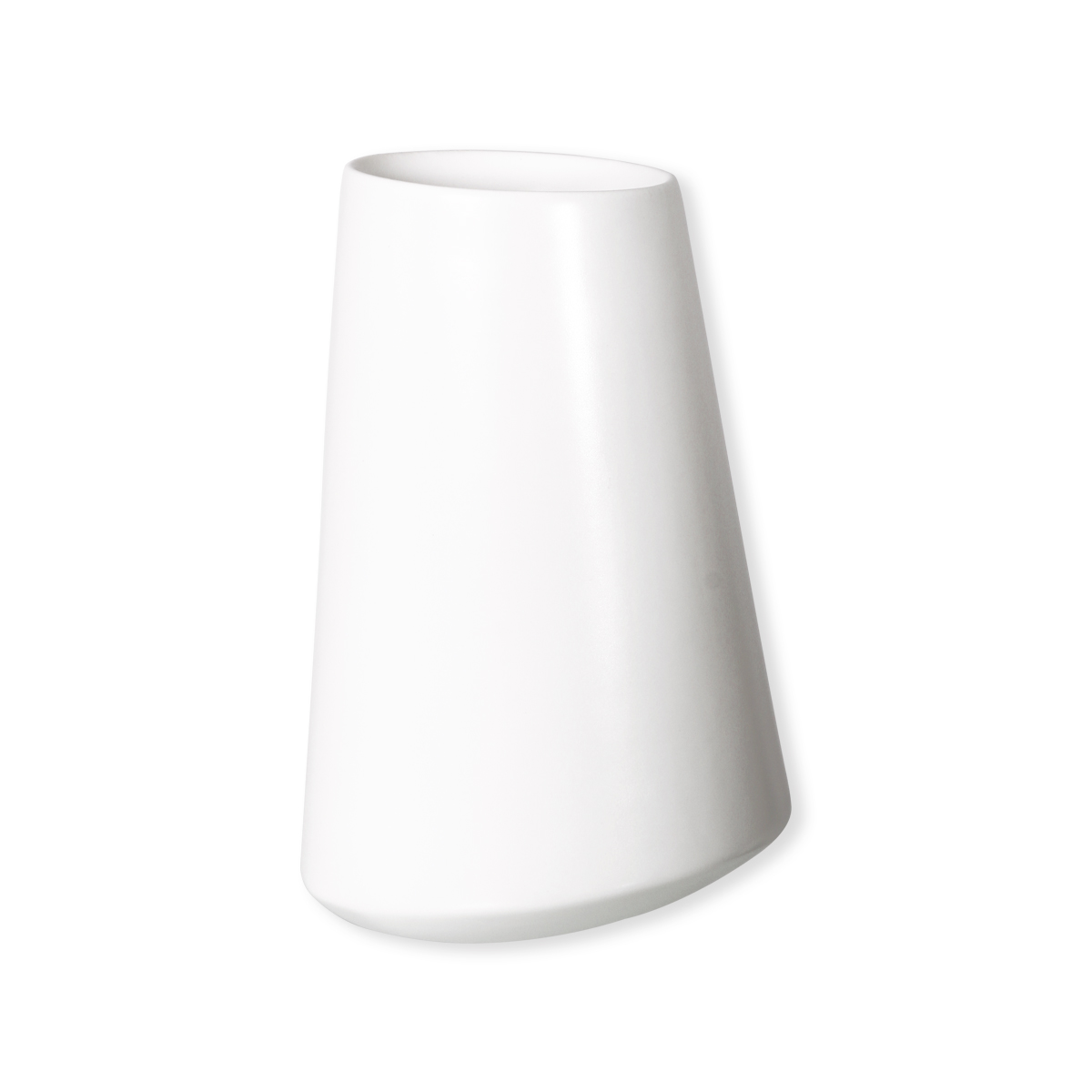 Vase blanc mat en c ramique 30cm bruno evrard for Table blanc mat