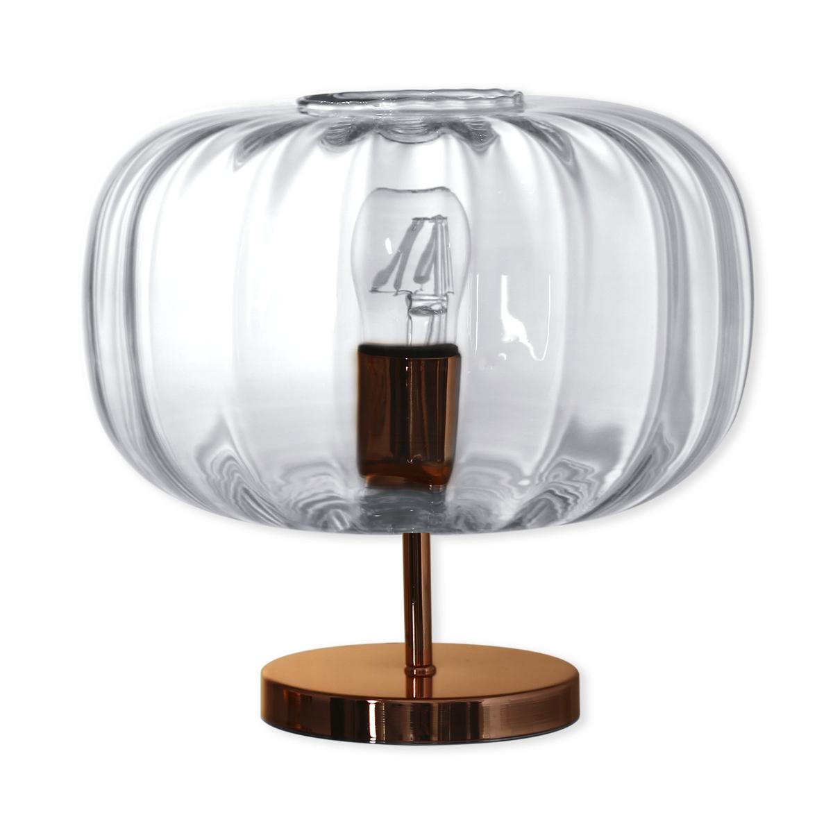 Lampe Sur Pied En Verre Transparent 30cm Bruno Evrard