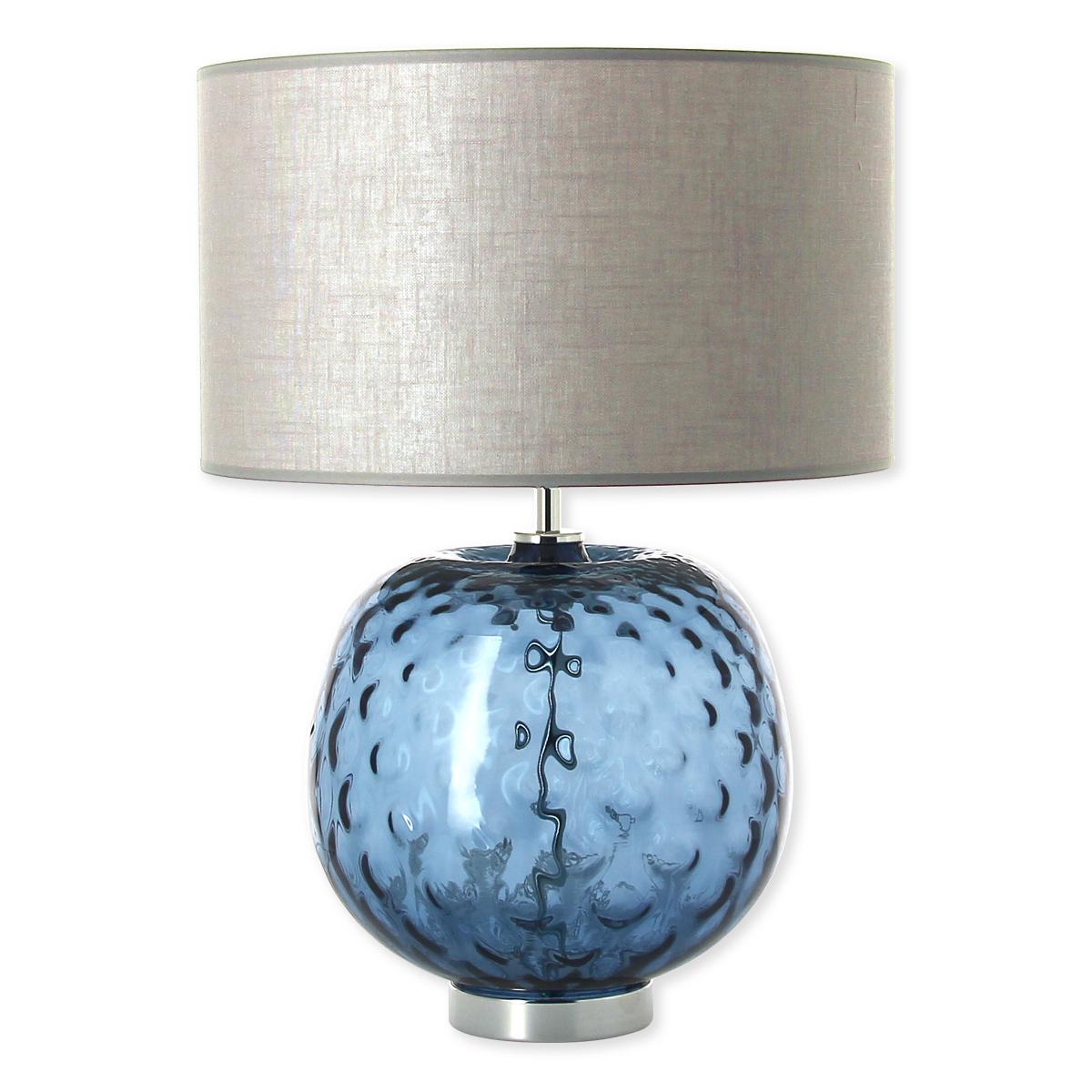 abat jour bleu Lampe en verre bleu marine avec abat-jour 49cm