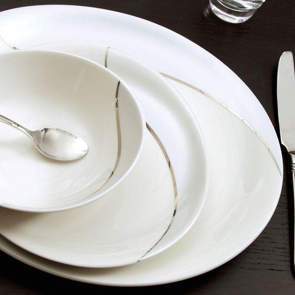 assiette plate ovale en porcelaine 29cm bruno evrard. Black Bedroom Furniture Sets. Home Design Ideas