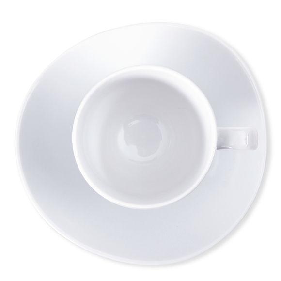 tasse caf blanche asym trique en porcelaine 10cl. Black Bedroom Furniture Sets. Home Design Ideas
