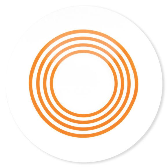 assiette creuse rayures orange en porcelaine 24cm bruno evrard. Black Bedroom Furniture Sets. Home Design Ideas