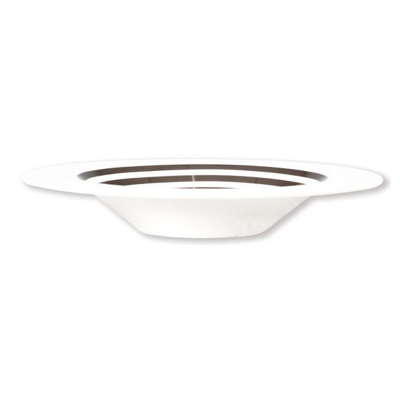 assiette creuse rayures taupe en porcelaine 24cm bruno evrard. Black Bedroom Furniture Sets. Home Design Ideas