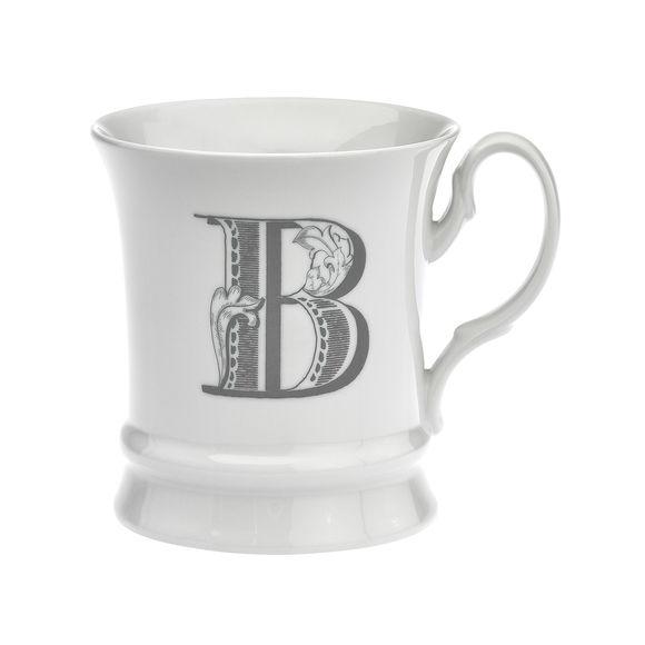 Mug en porcelaine 30cl - Lettre B