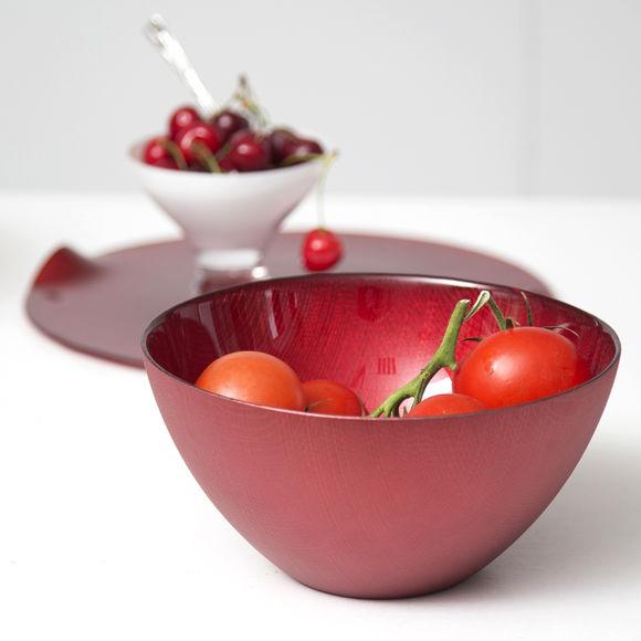 saladier en verre rouge 22cm bruno evrard. Black Bedroom Furniture Sets. Home Design Ideas