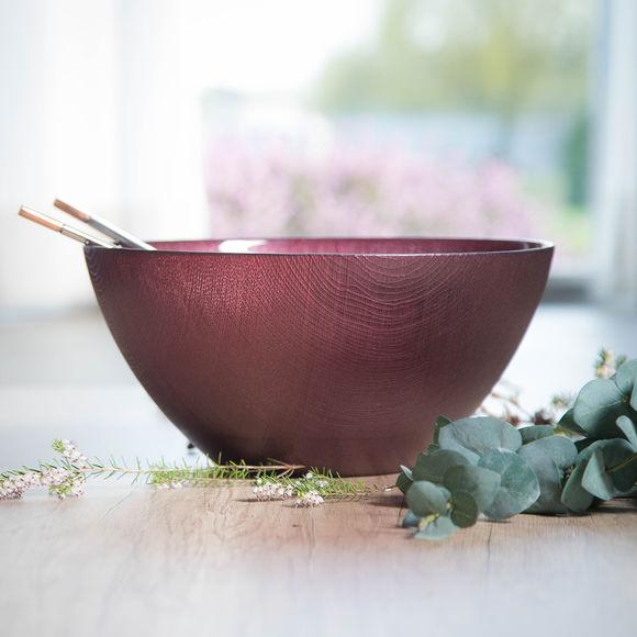 saladier en verre rose 30cm bruno evrard. Black Bedroom Furniture Sets. Home Design Ideas