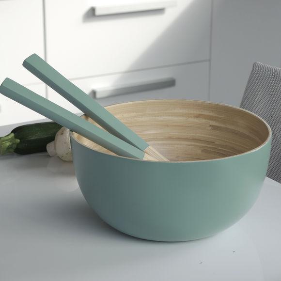 saladier en bambou vert 23cm bruno evrard. Black Bedroom Furniture Sets. Home Design Ideas